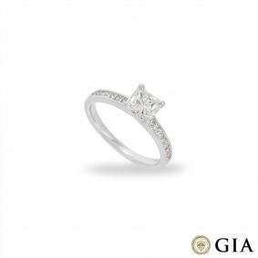 White Gold Radiant Cut Diamond Ring 1.01ct D/VVS2